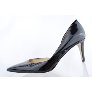 J.CREW Black Patent Leather Pointed High Toe Heels